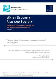Water Security Risk and Society