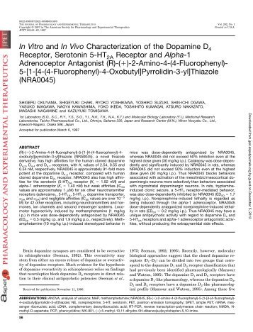 In Vitro - Journal of Pharmacology and Experimental Therapeutics