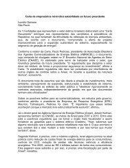 Carta de empresários reivindica estabilidade ao ... - Kelman.com.br