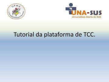 Tutorial da plataforma de TCC