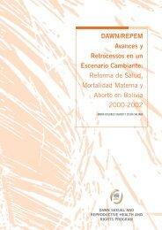Reforma de Salud, Mortalidad Materna y Aborto en Bolivia ... - CLAM