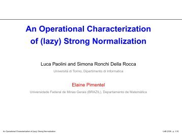 An Operational Characterization of (lazy) Strong Normalization