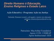 Direito Humano à Educação Ensino Religioso e Estado Laico