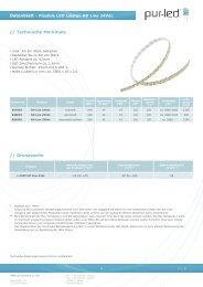 Datenblatt 24Vdc flexible Leiste HD Line - Pur - Leds