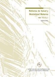 Reforma de Salud y Mortalidad Materna en México