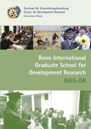 Bonn International Graduate School for Development Research - ZEF