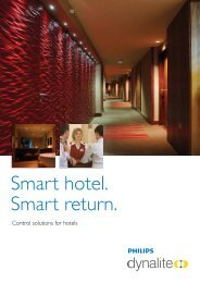 Smart hotel. Smart return. - Philips Lighting