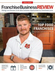 Top 40 Food Franchises of 2015