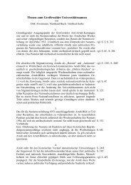 Thesen zum Greifswalder Universitätsnamen - Ernst-Moritz-Arndt ...