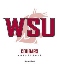 WSU Volleyball Record Book - Community