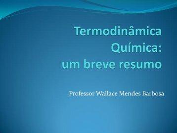 Professor Wallace Mendes Barbosa