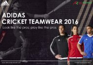 All Rounder Cricket - 2016 Adidas Cricket Teamwear