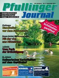 Ausgabe September 2011 - beim Pfullinger Journal