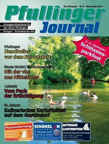 Ausgabe September 2011 - beim Pfullinger Journal