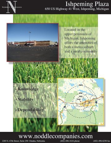 www.noddlecompanies.com Ishpeming Plaza