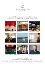 Herzlich Willkommen im Elite Hotel Marina Tower ... - Elite Hotels