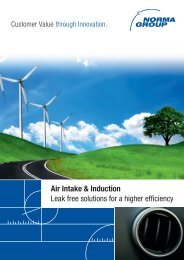 Air Intake & Induction Leak free solutions for a higher efficiency
