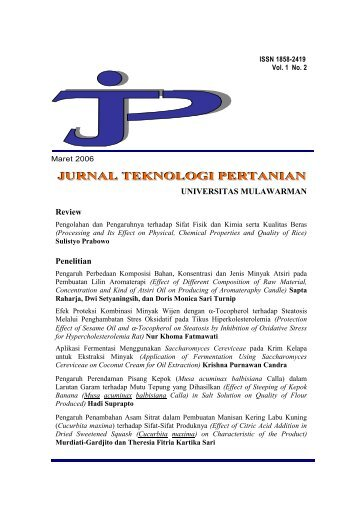JURNAL TEKNOLOGI PERTANIAN