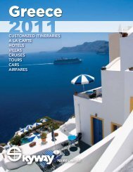 CUSTOMIZED ITINERARIES A LA CARTE HOTELS ... - Skyway Tours