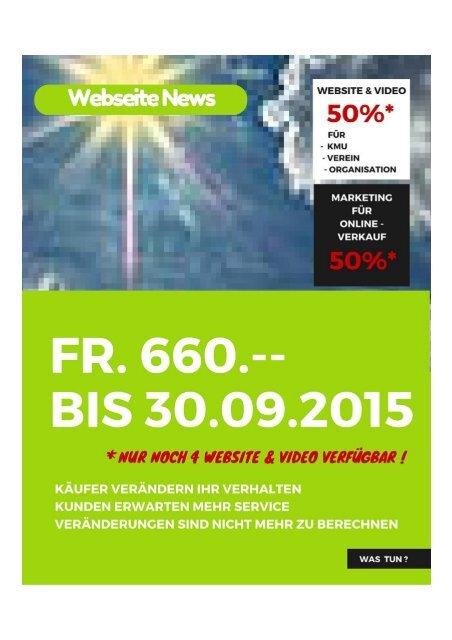 Webseite - Video. AKTION 50 % bis 30.09.2015