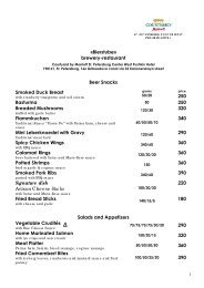 Bierstube restaurant brewery menu at the Courtyard by Marriott St ...