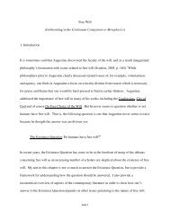 Free Will (forthcoming in the Continuum Companion to Metaphysics ...