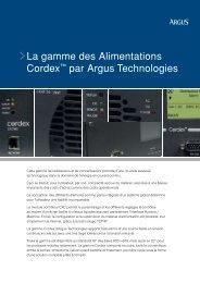 La gamme des Alimentations Cordex par Argus Technologies