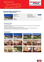 Hotel Alpenhof **** - Brixental