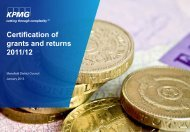Certification of grants and returns 2011/12