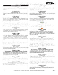 AXS TV Schedule for Mon  October 22, 2012 to Sun  October 28