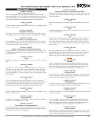 AXS TV Canada Schedule for Mon. September 17, 2012 to Sun ...