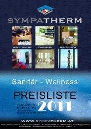 Preisliste Sanitär 2011 excl. MwSt. (Pdf) - Sympatherm