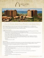 Aulani Offers Added Value Without the Added Cost