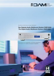 Das Digitale Audio Multiroom-System DAM 6000 The Digital ... - WHD