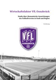 Wirtschaftsfaktor VfL Osnabrück