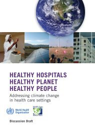 Healthy Hospitals – Healthy Planet – Healthy People   Addressing