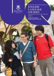 ENGLISH LANGUAGE COURSES 2011