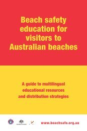 Beach safety education for visitors to Australian beaches