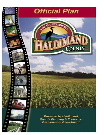 HC Official Plan Document - Haldimand County