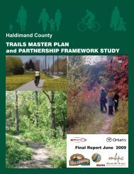 Haldimand County TRAILS MASTER PLAN and PARTNERSHIP FRAMEWORK STUDY