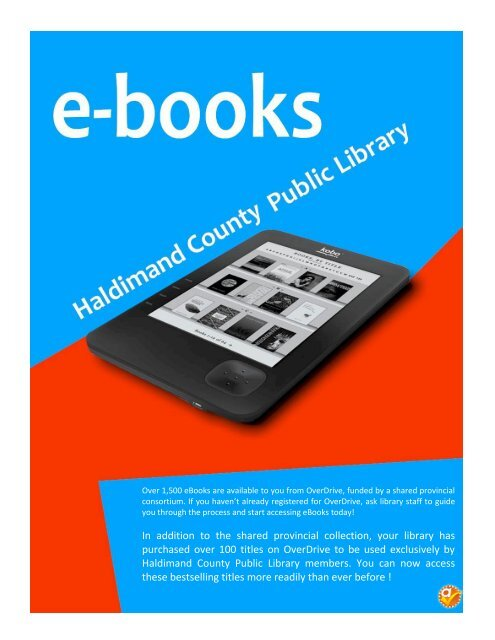 In addition to the shared provincial collection, your library has ...