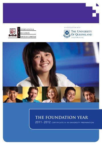 The Foundation Year 2010-2011 THE FOUNDATION YEAR