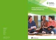 2009/2010 International student prospectus