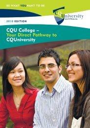 CQU College – Your Direct Pathway to CQUniversity