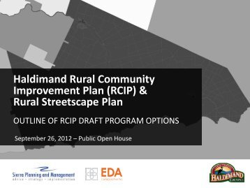Rural Streetscape Plan