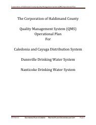(QMS) Operational Plan - Haldimand County