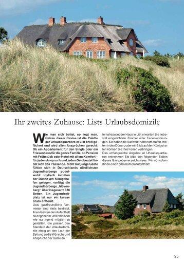 Ihr zweites Zuhause: Lists Urlaubsdomizile - Sylt