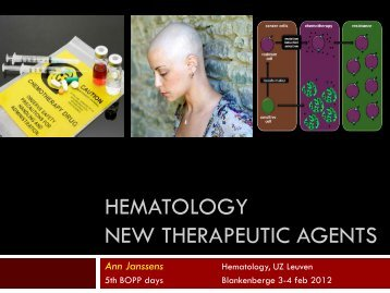 NEW THERAPEUTIC AGENTS