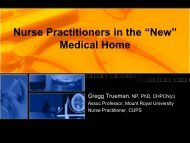 """Nurse Practitioners in the """"New"""" Medical Home"""