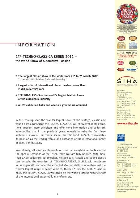 24th TECHNO-CLASSICA ESSEN 2012 – - SIHA